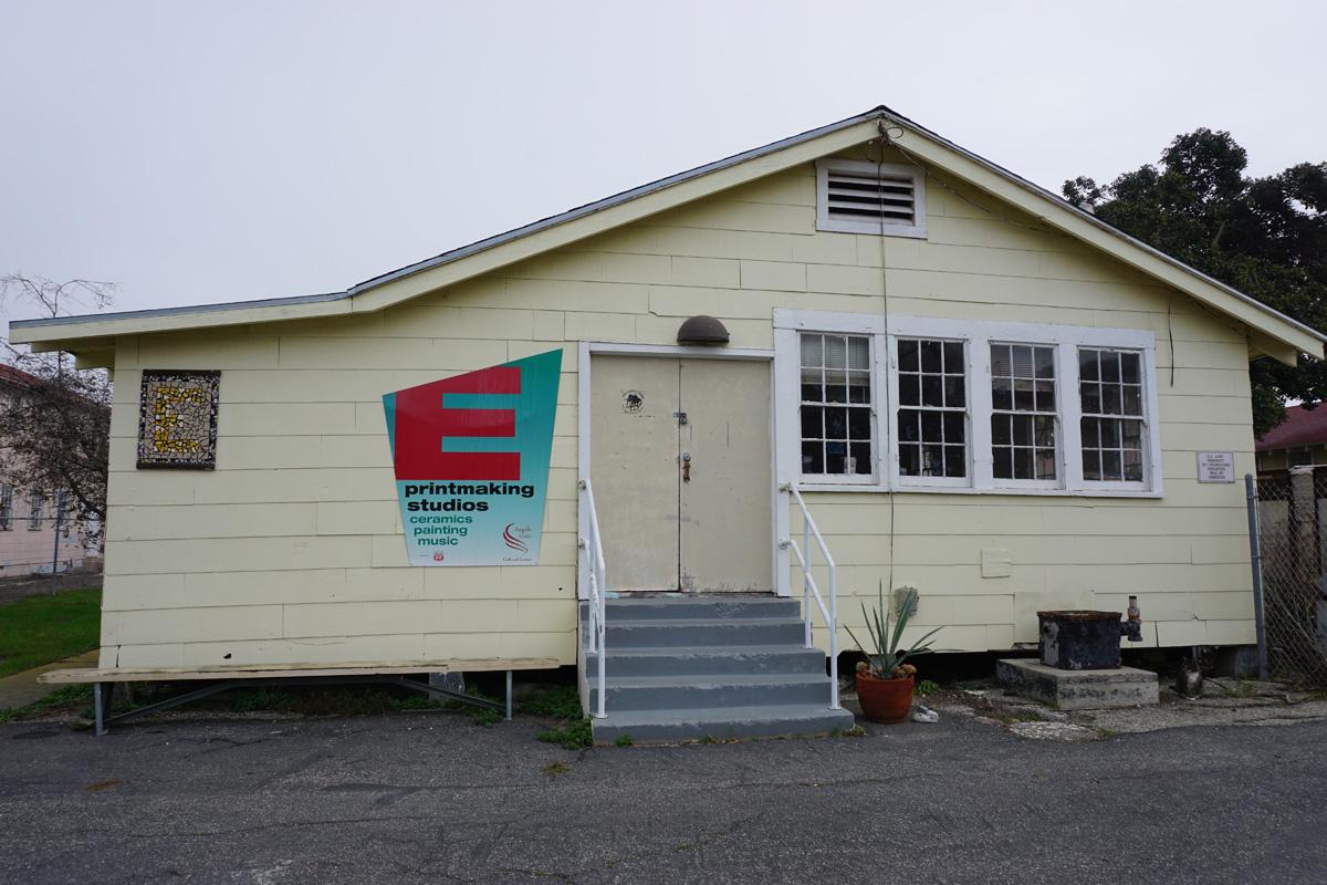 Building E, west door