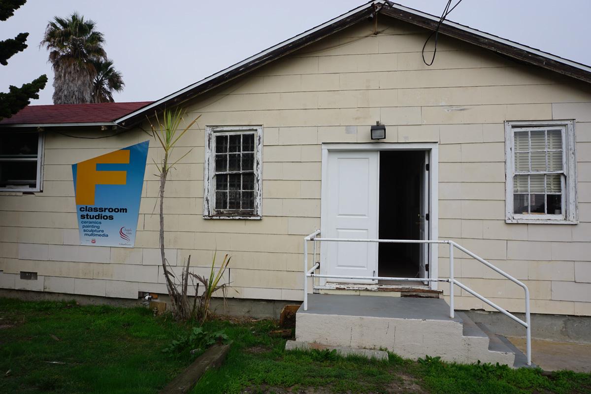 Building F, south door
