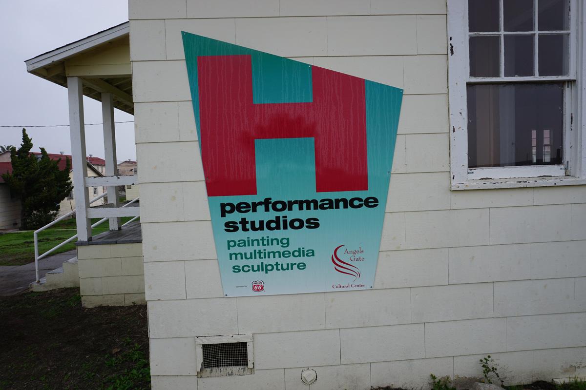 Building H, porch