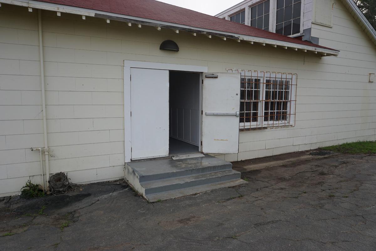 Building H, west doors